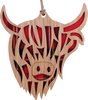 Highland Coo Hanging Plaque   LH03