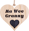 Ma Wee Granny Heart Hanging Plaque | LH07