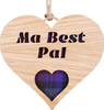 Ma Best Pal Heart Hanging Plaque | LH08