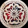 Rose Round Coaster | LCR41