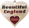 Beautiful England Heart Hanging Plaque | LH25