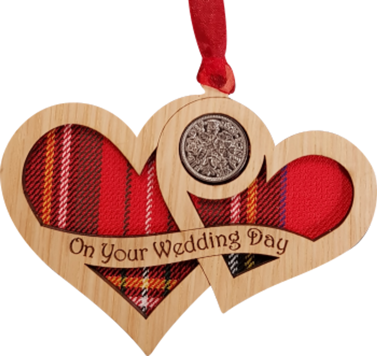 Wedding Day Hearts - Lucky Sixpence   LS46 - LT Creations