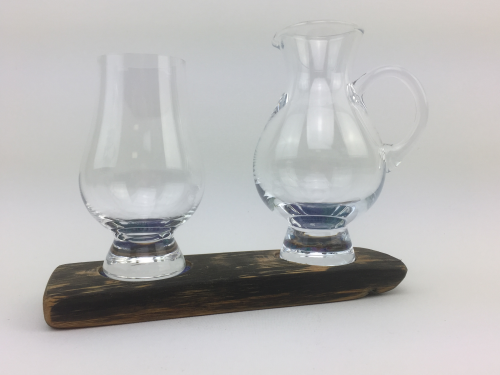 Twin Whisky Glass Base Set w/ Jug | WS02J