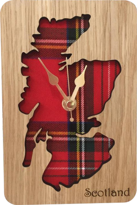 Small Inset Scotland Map Clock | LC08