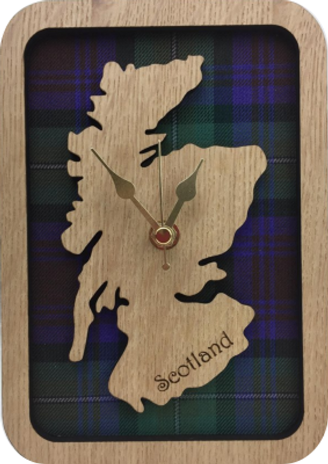Small Framed Scotland Map Clock | LC09