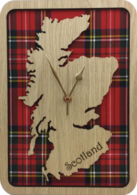 Medium Framed Scotland Map Clock | LC11