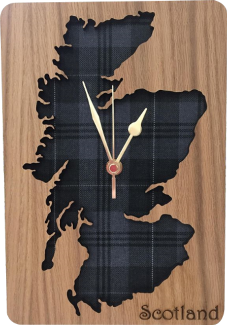 Medium Inset Scotland Map Clock | LC10