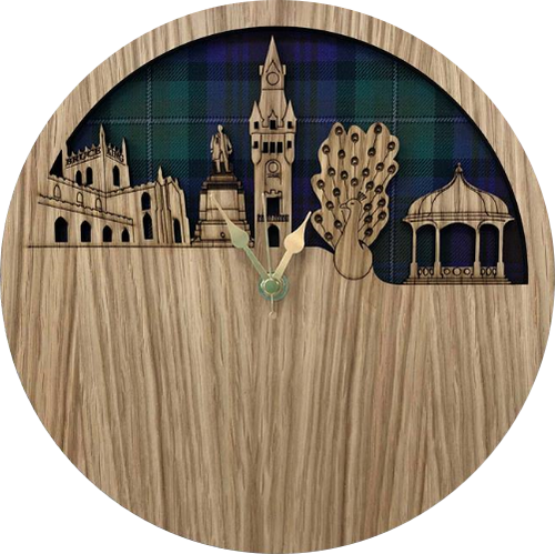 Dunfermline Skyline Clock | LC05