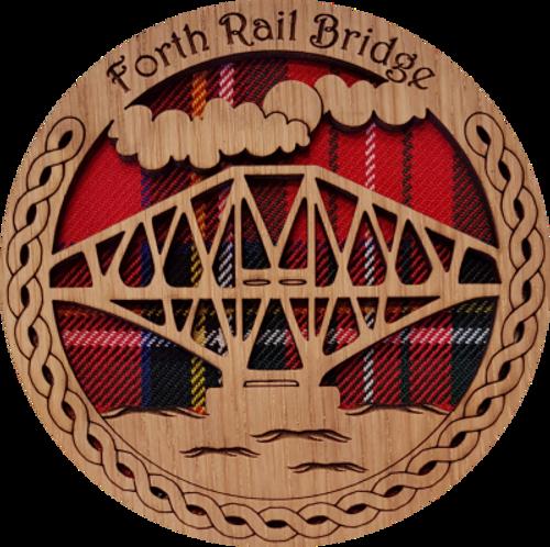 Forth Rail Bridge Round Coaster | LCR07