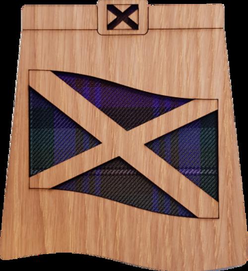Saltire Kilt Coaster | LCR12
