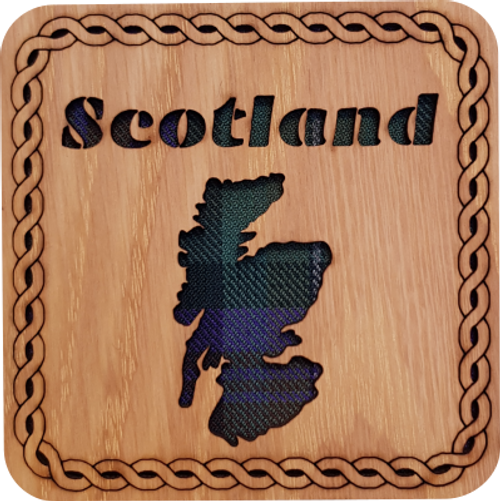Scotland Map Square Coaster | LCR16