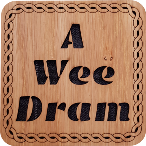 A Wee Dram Square Coaster | LCR17