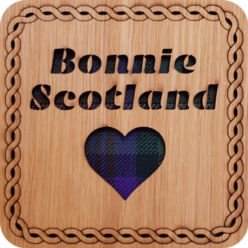 Bonnie Scotland Square Coaster | LCR20