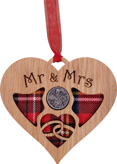 Wedding Heart Lucky Sixpence