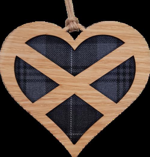 Saltire Heart Hanging Plaque   LH05