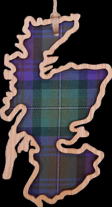 Scotland Map Hanging Plaque   LH13