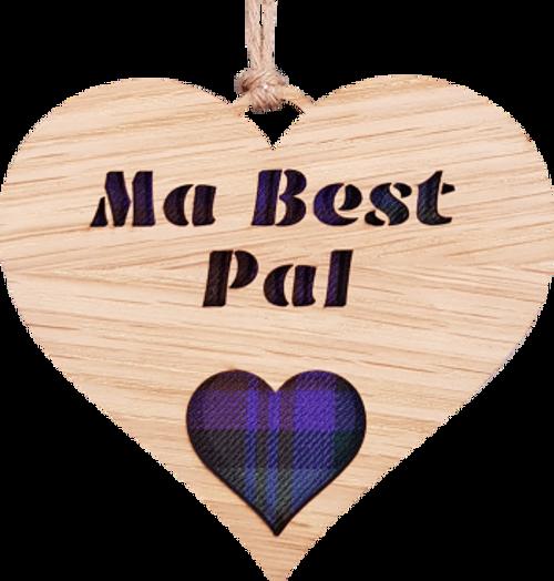 Ma Best Pal Heart Hanging Plaque | LH08