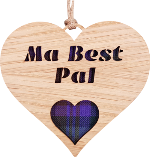 Ma Best Pal Heart Hanging Plaque   LH08