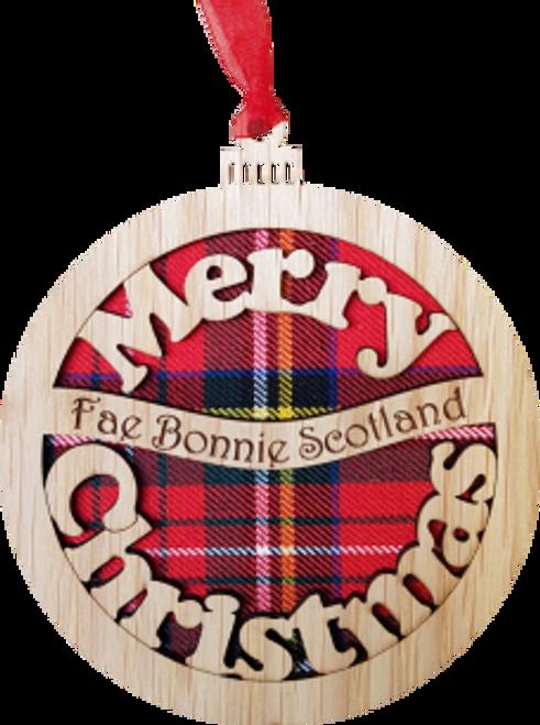 Bauble - Merry Christmas Fae Bonnie Scotland | X01