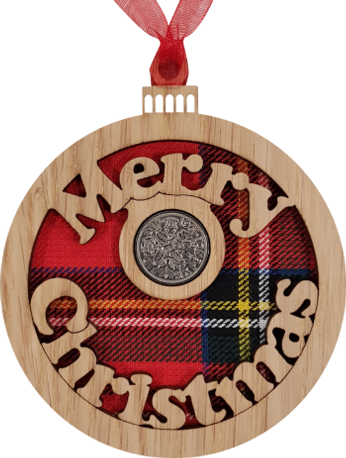Merry Christmas Bauble - Lucky Sixpence | X21