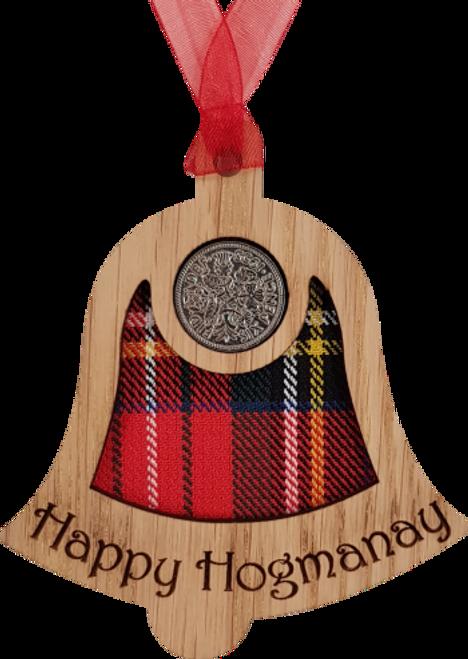 Happy Hogmanay Bell - Lucky Sixpence | X22
