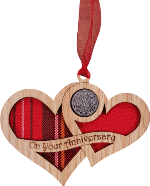 Anniversary Hearts - Lucky Sixpence   LS36