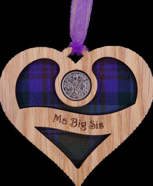 Ma Big Sis - Heart Lucky Sixpence | LS42