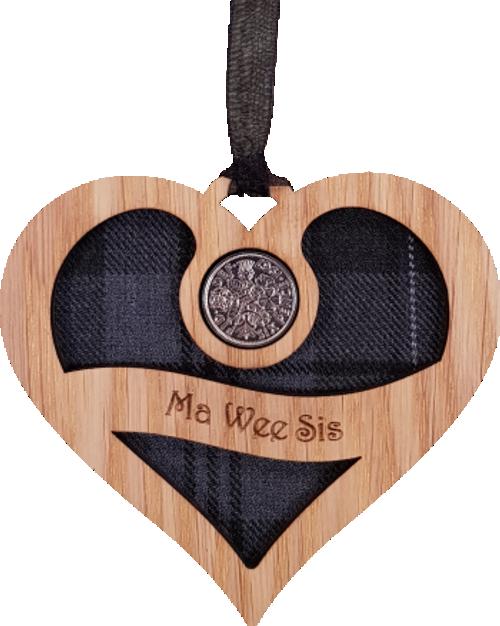 Ma Wee Sis - Heart Lucky Sixpence | LS43