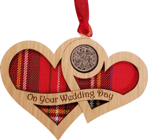 Wedding Day Hearts - Lucky Sixpence | LS46