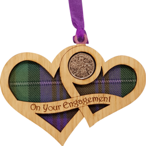 On Your Engagement Hearts - Lucky Sixpence   LS50