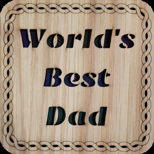 World's Best Dad Coaster | LCR21