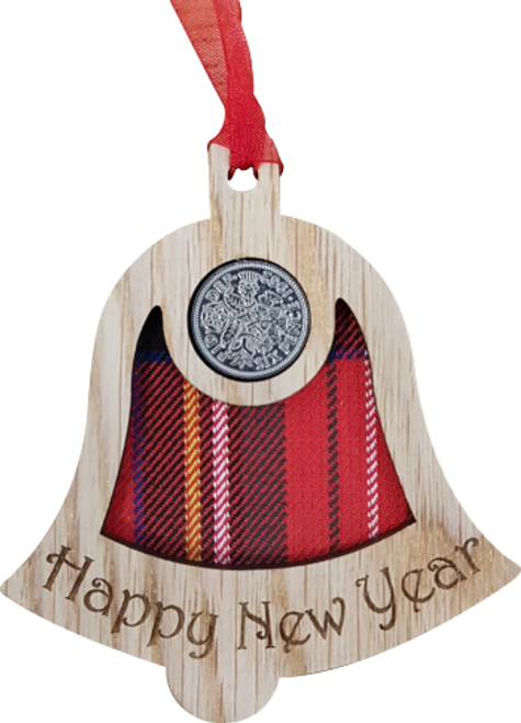 Happy New Year Bell - Lucky Sixpence | X24