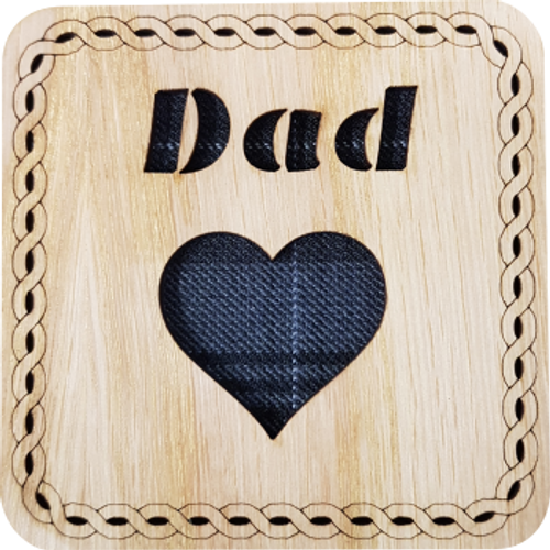 Dad Square Coaster | LCR25