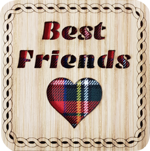 Best Friends Square Coaster | LCR32