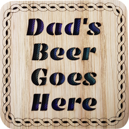 Dad's Beer Goes Here Square Coaster | LCR38