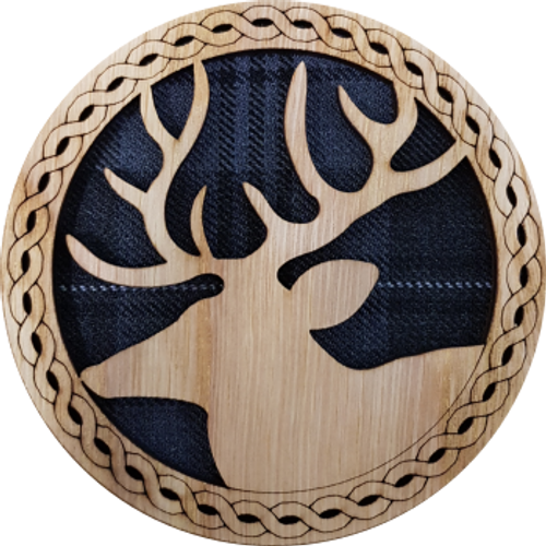 Stag Round Coaster | LCR40