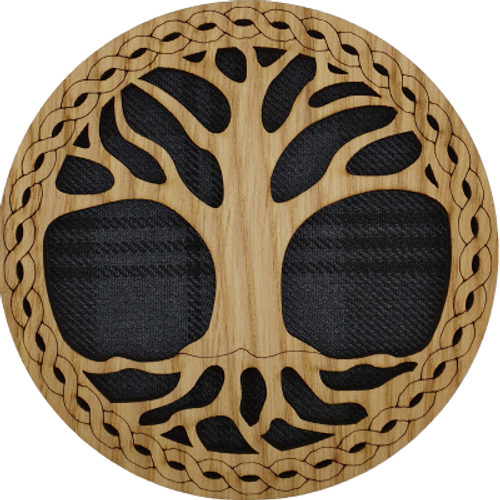 Tree of Life Round Coaster | LCR44
