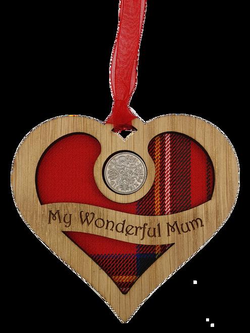 My Wonderful Mum - Heart Lucky Sixpence | LS71