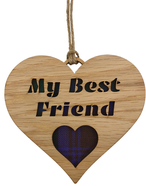 My Best Friend Heart Hanging Plaque   LH21