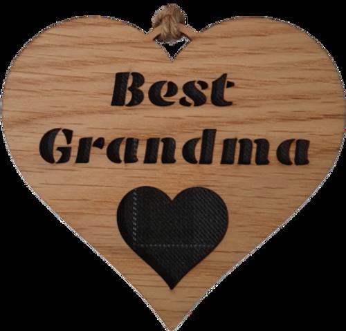 Best Grandma Heart Hanging Plaque | LH22