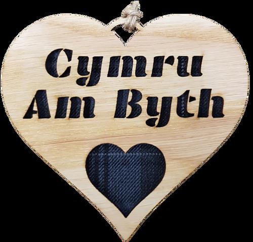Cymru Am Byth Heart Hanging Plaque | LH26