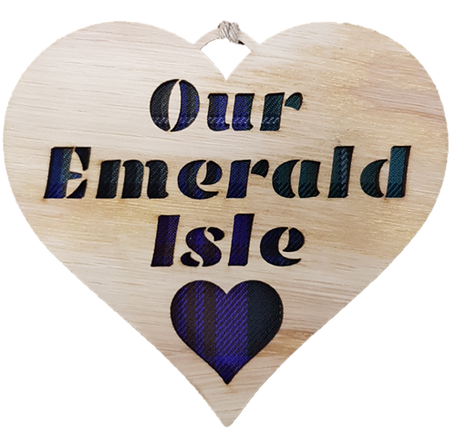 Our Emerald Isle Heart Hanging Plaque   LH27