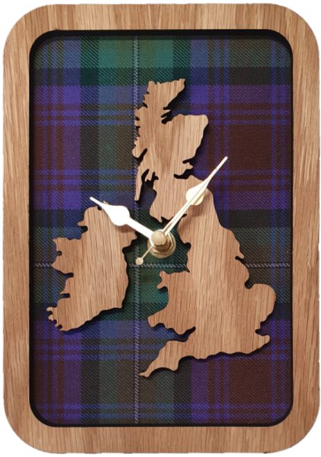 Framed UK & IRE Map Clock | LC21