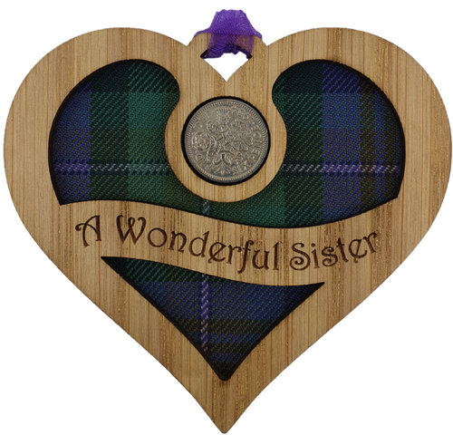 A Wonderful Sister - Heart Lucky Sixpence | LS73