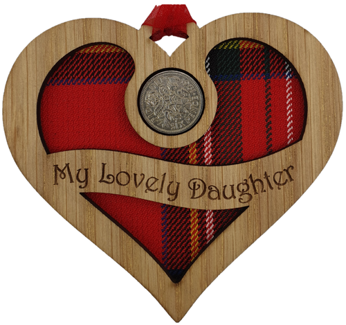 My Lovely Daughter - Heart Lucky Sixpence   LS74
