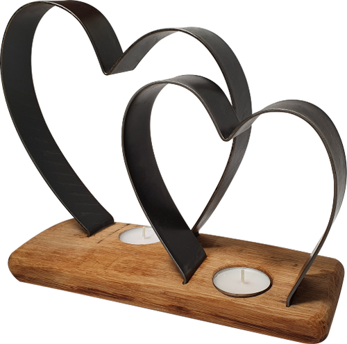 Twin Heart Tea-Light Holder | BH04