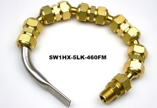 """SW1 Flutemaster .460"""" x .070"""" Swivel nozzle on Hex Line"""