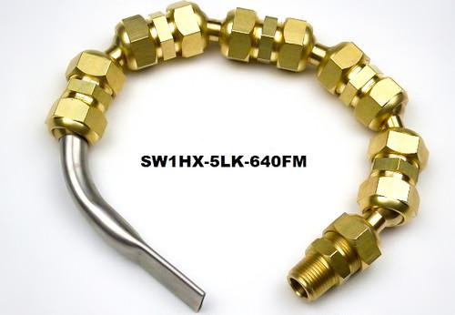"""SW1 Flutemaster .640"""" x .095"""" Swivel nozzle on Hex Line"""
