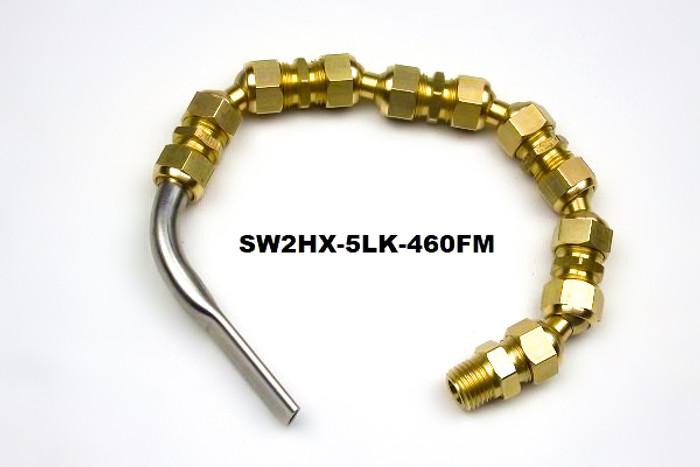 """SW2 Flutemaster .460"""" x .070"""" Swivel nozzle on Hex Line"""