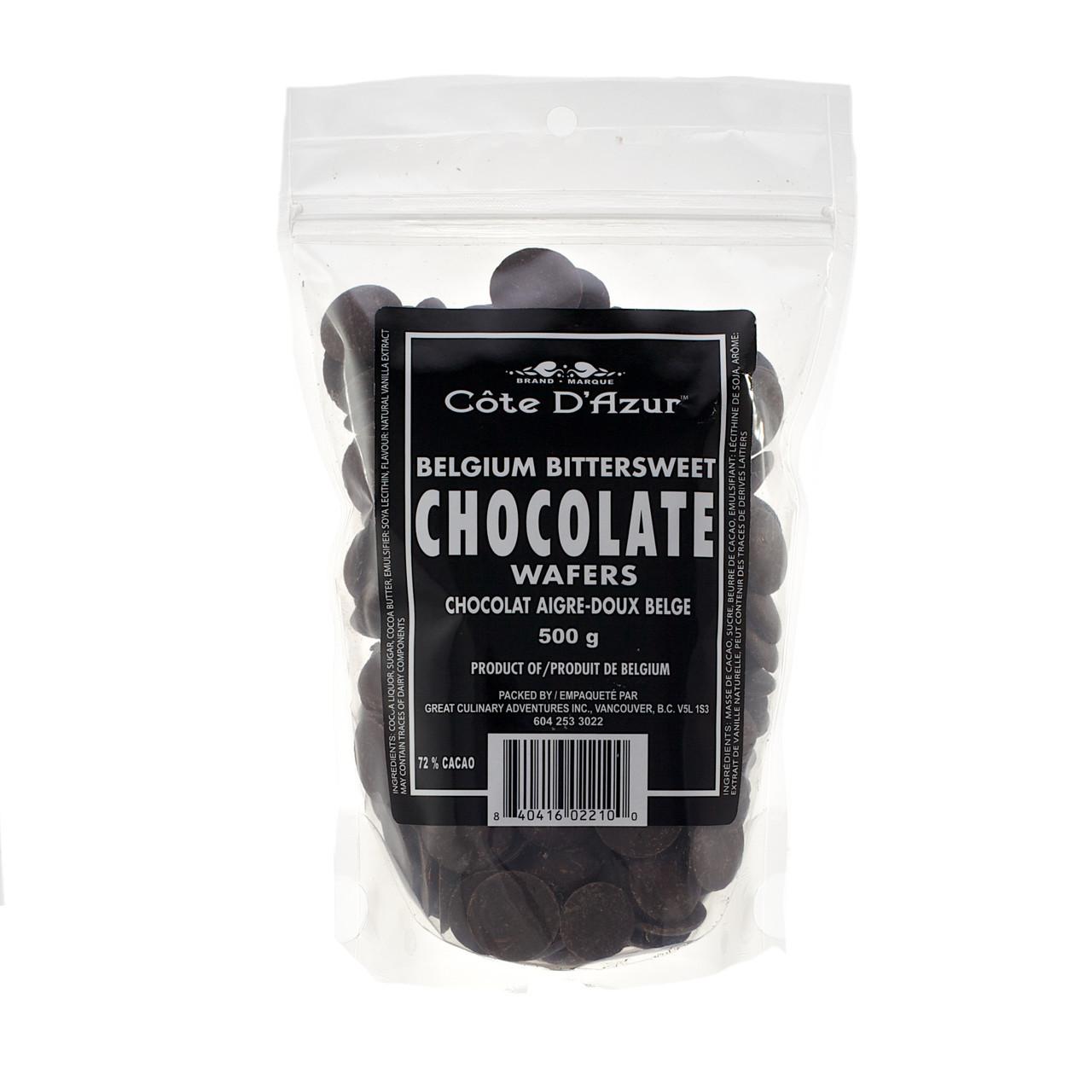 Belgian Bittersweet Chocolate Wafers, 500g